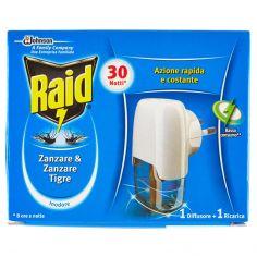 RAID-Raid Liquido zanzare & zanzare tigre 1 diffusore + 1 ricarica 21 ml