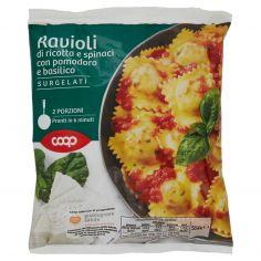 Coop-Ravioli di ricotta e spinaci con pomodoro e basilico Surgelati 550 g