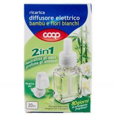 Coop-ricarica diffusore elettrico bambù e fiori bianchi 2in1 20 ml