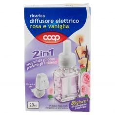 Coop-ricarica diffusore elettrico rosa e vaniglia 2in1 20 ml