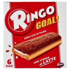 RINGO-Ringo Goal! con crema al Latte 6 x 28 g