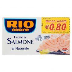RIO MARE-Rio mare Filetto di Salmone al Naturale al Vapore 125 g