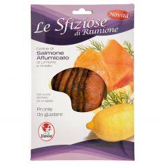 RIUNIONE INDUSTRIE ALIM.-Riunione Le Sfiziose di Riunione Fettine di Salmone Affumicato al Limone e Aneto 100 g