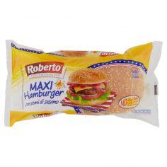 ROBERTO-Roberto Maxi Hamburger con semi di sesamo 4 Panini 300 g