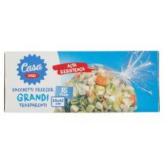 Coop-Sacchetti Freezer Grandi Trasparenti 29x42 cm 15 pz