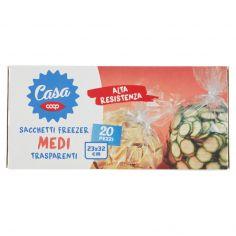 Coop-Sacchetti Freezer Medi Trasparenti 23x32 cm 20 pz
