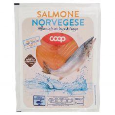 Coop-Salmone Norvegese Affumicato con legno di Faggio 100 g