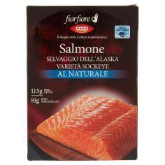 Coop-Salmone Selvaggio dell'Alaska Varietà Sockeye al Naturale 115 g