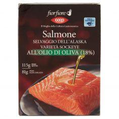 Coop-Salmone Selvaggio dell'Alaska Varietà Sockeye all'Olio di Oliva (18%) 115 g