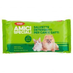 Coop-Salviette Detergenti per Cani e Gatti 30x16,5 cm 30 pz