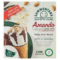AMANDO-Sammontana Amando Vaniglia, Cacao e Nocciola 4 x 75 g