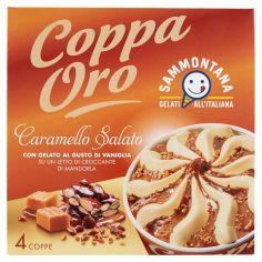 COPPA ORO-Sammontana Coppa Oro Caramello Salato 4 x 90 g