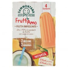 FRUTTIAMO-Sammontana Fruttiamo Frutta Rinfrescante 4 x 55 g