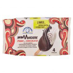 NON MORDERE-Sammontana Stecco Non Mordere Panna e Cioccolato 4 x 64 g
