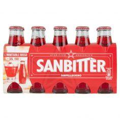 SAN BITTER-SANBITTÈR Aperitivo Analcolico, Bottiglia Monodose 10cl x 10