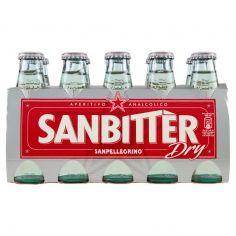 SAN BITTER-SANBITTER Aperitivo Analcolico DRY, Bottiglia Monodose 10cl x 10