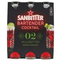 BARTENDER-SANBITTÈR BARTENDER COCKTAIL MULEBITTER, Aperitivo Analcolico 14cl x 3