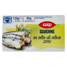 Coop-Sardine in olio di oliva (29%) 120 g