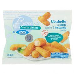 Coop-senza glutine Crocchette di patate ripiene di mozzarella Surgelati 200 g