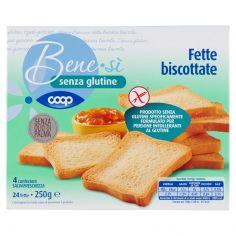 Coop-senza glutine Fette biscottate 24 fette 250 g