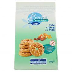 Coop-senza glutine Frollini ai cereali con frutta 250 g