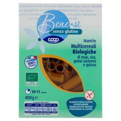 Coop-senza glutine Maniche Multicereali Biologiche di mais, riso, grano saraceno e quinoa 400 g