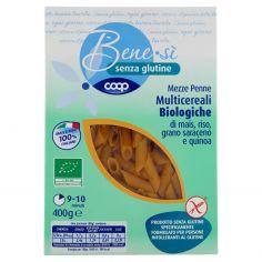 Coop-senza glutine Mezze Penne Multicereali Biologiche di mais, riso, grano saraceno e quinoa 400 g