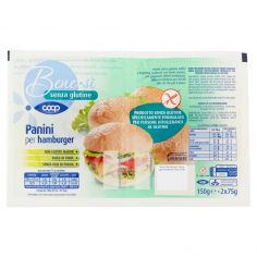 Coop-senza glutine Panini per hamburger 2 x 75 g