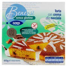 Coop-senza glutine Torta con crema alla nocciola 410 g