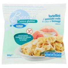 Coop-senza glutine Tortellini al prosciutto crudo in salsa ai formaggi Surgelati 300 g