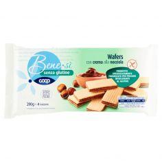 Coop-senza glutine Wafers con crema alla nocciola 4 x 50 g
