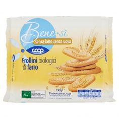 Coop-senza latte senza uova Frollini biologici di farro 8 x 31,25 g