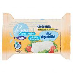 Coop-senza lattosio Crescenza alta digeribilità 165 g
