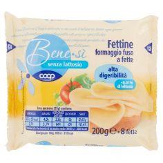 Coop-senza lattosio Fettine formaggio fuso a fette alta digeribilità 8 fette 200 g