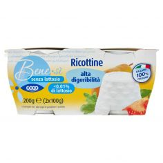 Coop-senza lattosio Ricottine alta digeribilità 2 x 100 g
