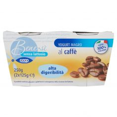 Coop-senza lattosio Yogurt Magro al caffè alta digeribilità 2 x 125 g