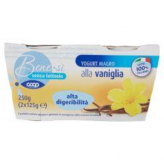 Coop-senza lattosio Yogurt Magro alla vaniglia alta digeribilità 2 x 125 g
