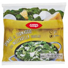 Coop-Spinaci al Formaggio con Mozzarella Surgelati 450 g