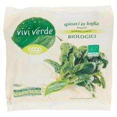 Coop-spinaci in foglia surgelati Biologici 450 g