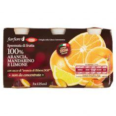 Coop-Spremuta di frutta 100% Arancia, Mandarino e Limone 3 x 125 ml