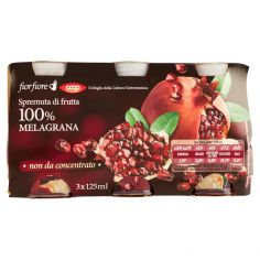 Coop-Spremuta di frutta 100% Melagrana 3 x 125 ml