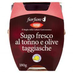 Coop-Sugo fresco al tonno e olive taggiasche 180 g