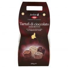 Coop-Tartufi di cioccolato Assortiti al Cocco, al Pistacchio, al Torroncino, Dark 200 g