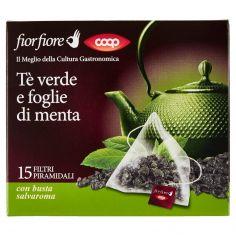 Coop-Tè verde e foglie di menta 15 x 2 g