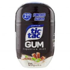 TIC TAC GUM-tic tac Gum liquorice mint 125 gums 60,8 g