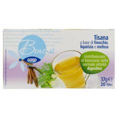 Coop-Tisana a base di finocchio, liquirizia e melissa 20 filtri 37 g