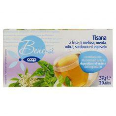 Coop-Tisana a base di melissa, menta, ortica, sambuco ed equiseto 20 filtri 37 g