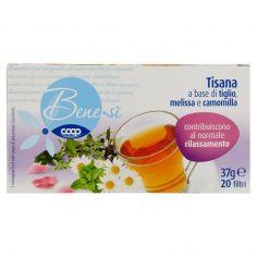 Coop-Tisana a base di tiglio, melissa e camomilla 20 filtri 37 g