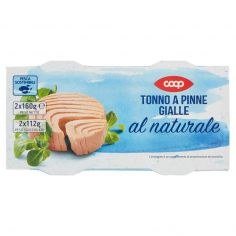 Coop-Tonno a Pinne Gialle al naturale 2 x 160 g