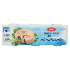Coop-Tonno a Pinne Gialle al naturale 3 x 80 g